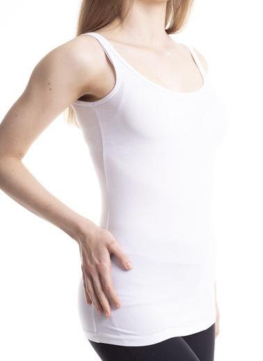 Stamina Kalın Askılı Atlet Beyaz